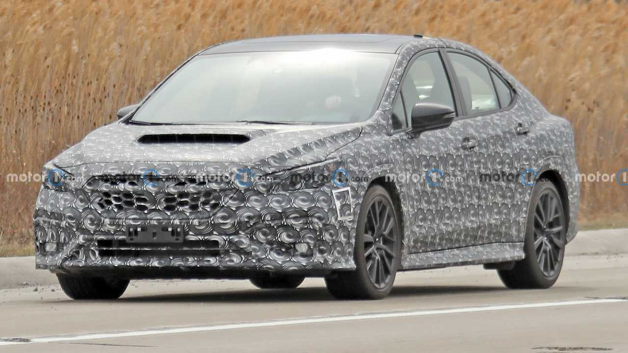The next Subaru WRX spied on the road