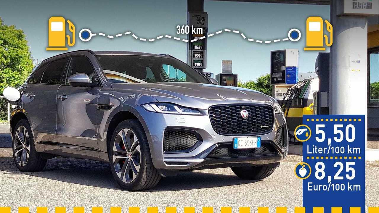 Jaguar F-Pace als Plug-in-Hybrid im Verbrauchstest