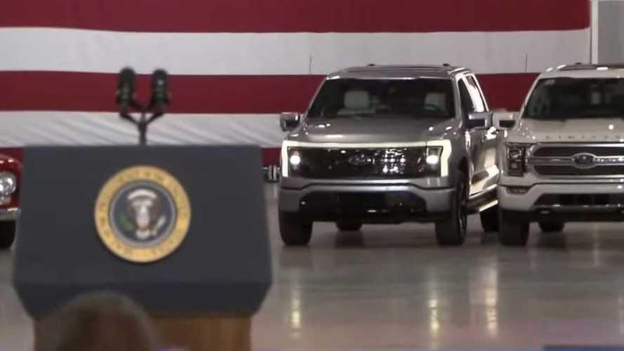 Ford F-150 Lightning Makes Surprise EV Appearance At Biden Event