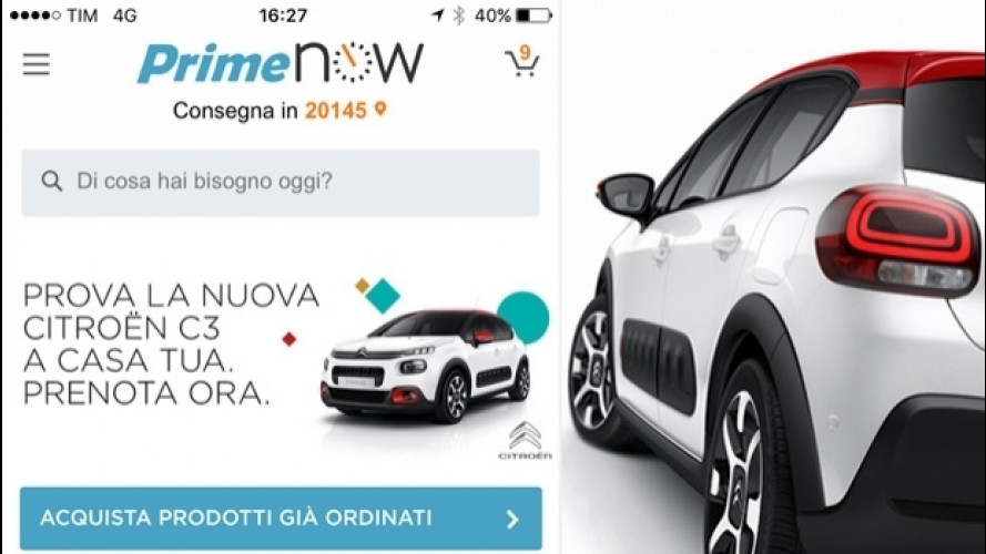 Citroen C3 e Amazon, il test drive è a domicilio