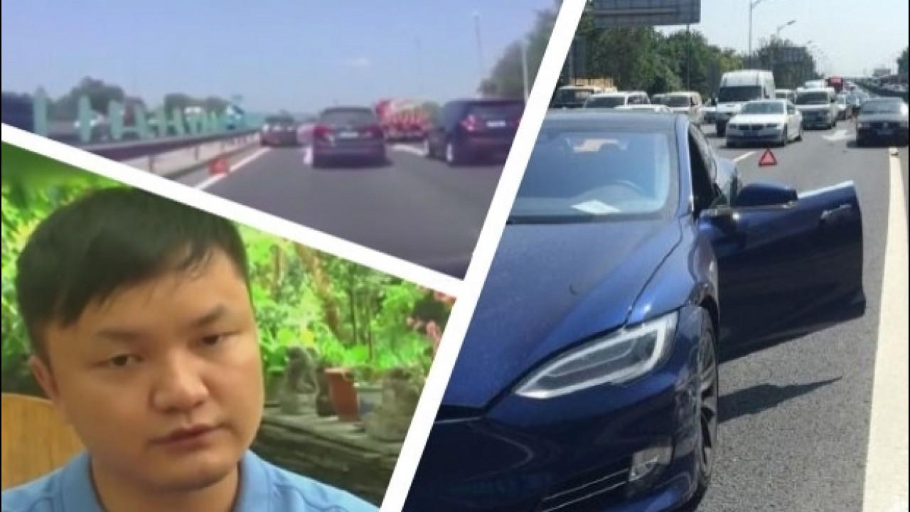 [Copertina] - Tesla Model S, così l'incidente con l'Autopilot in Cina [VIDEO]