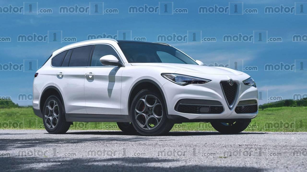 2020 Alfa Romeo büyük SUV render