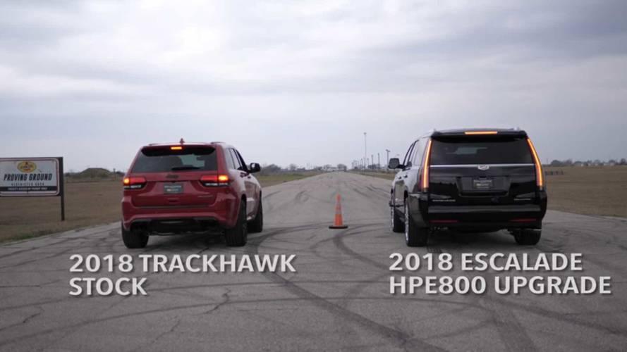 Hennessey Cadillac Escalade vs. Jeep Grand Cherokee Trackhawk