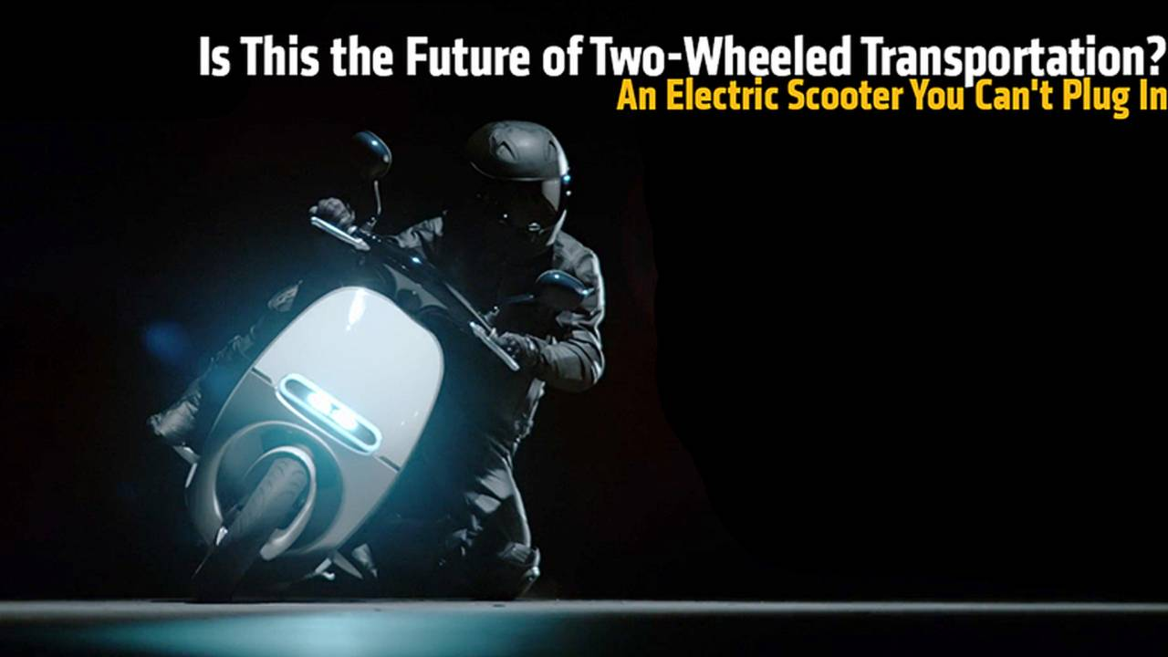 Is This the Future of Two-Wheeled Transportation? An Electric Scooter You Can't Plug In