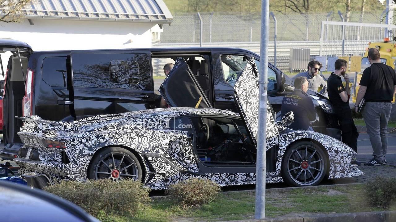 Lamborghini Aventador Svj Interior Spied From Afar