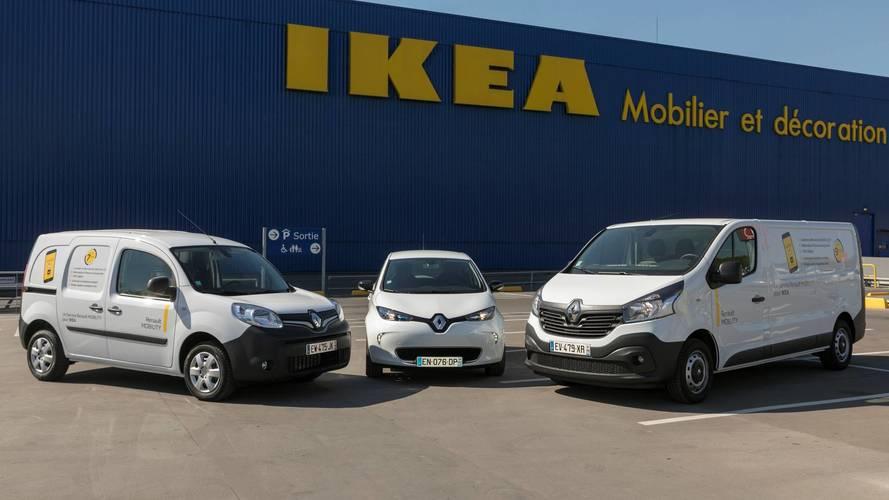 Renault fournit 300 véhicules de location à Ikea