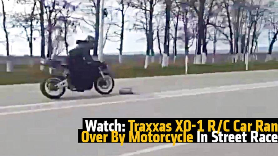 Watch: Traxxas XO-1 R/C Car Ran Over By Motorcycle In Street Race