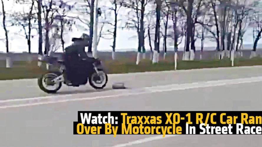Watch: Traxxas XO-1 R/C Car Ran Over By Motorcycle In Street Race
