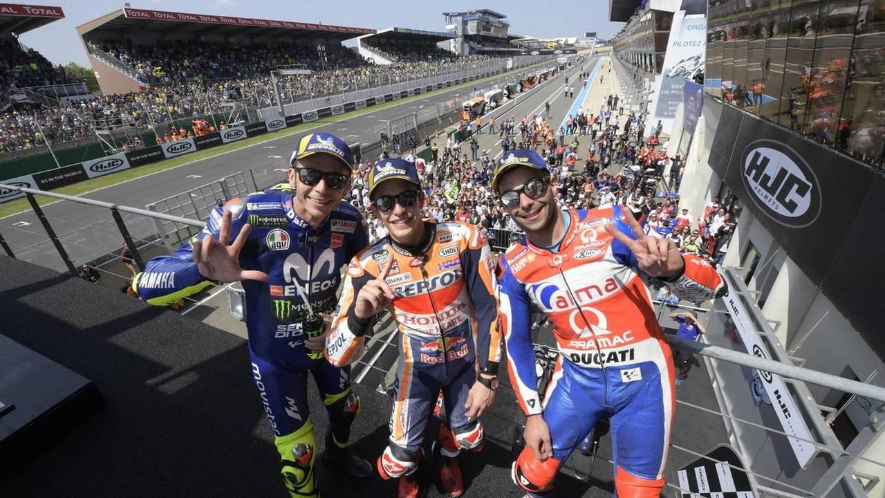 Podio GP de Francia de MotoGP 2018