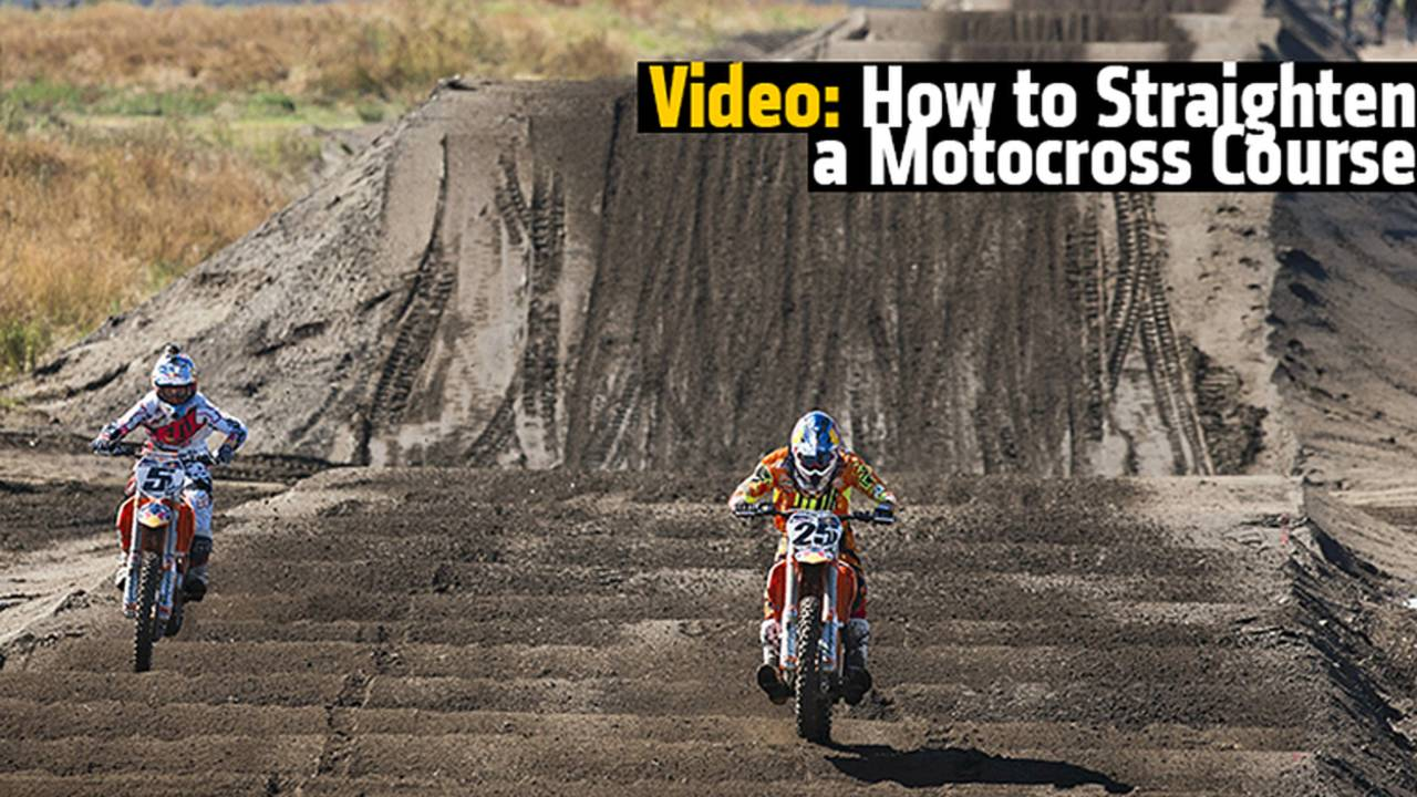 How to Straighten A Motocross Track - Red Bull Straight Rhythm