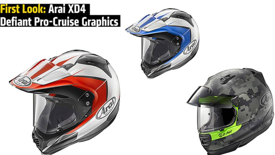 First Look: Arai XD4 and Defiant Pro-Cruise Graphics