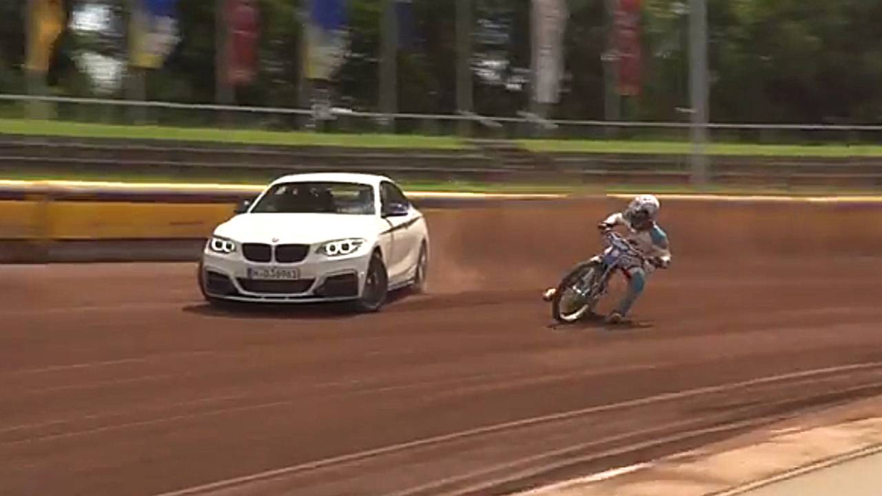 Bmw Car And Bike Go Drifting On Dirt Video Motor1 Com Photos