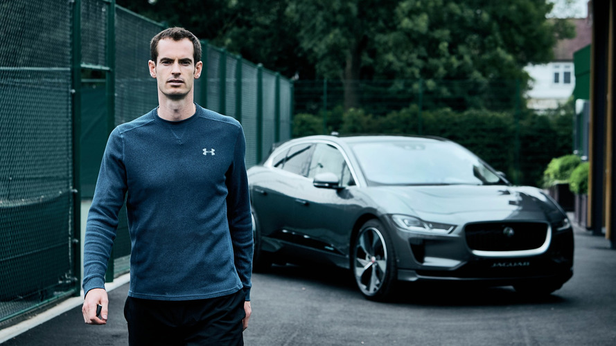 Andy Murray reçoit son Jaguar I-Pace