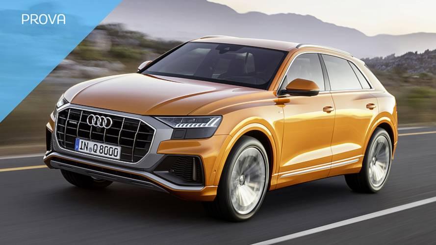Audi Q8, la prova del SUV che brilla di luce propria