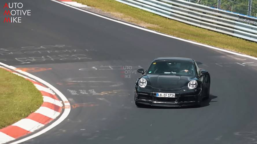 2020 Porsche 911 Turbo spy screenshot