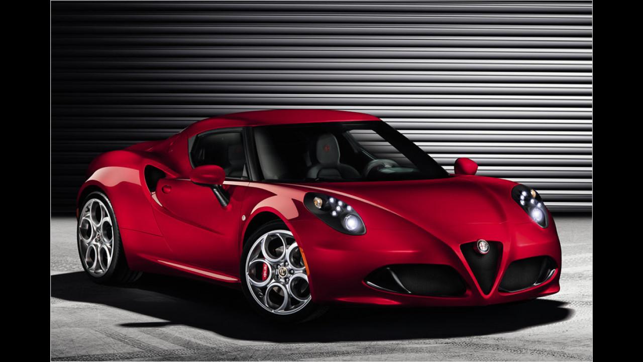 Alfa Romeo 4C steht in Genf
