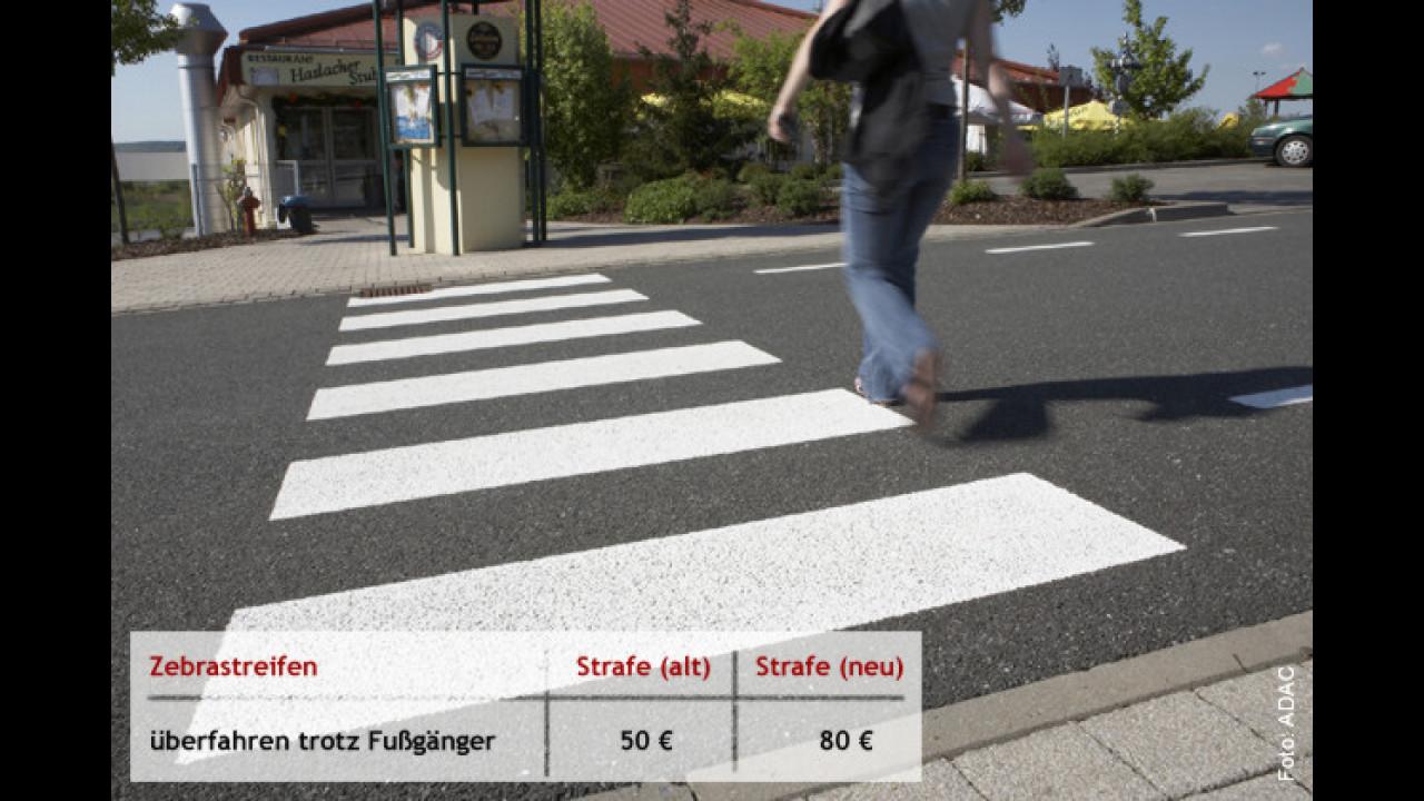 Achtung: Fußgänger haben hier Vorrang