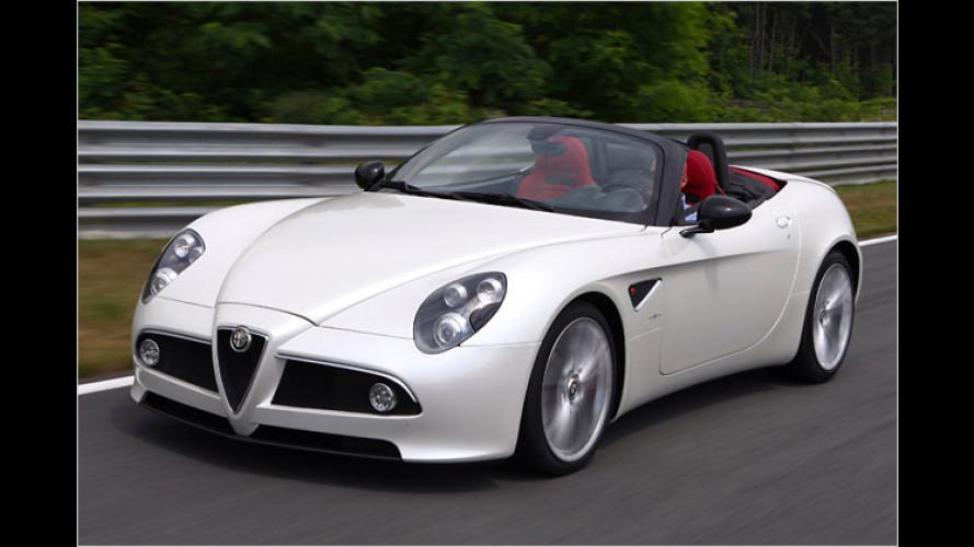 105 Grad am Nachmittag: Unterwegs im Alfa 8C Spider