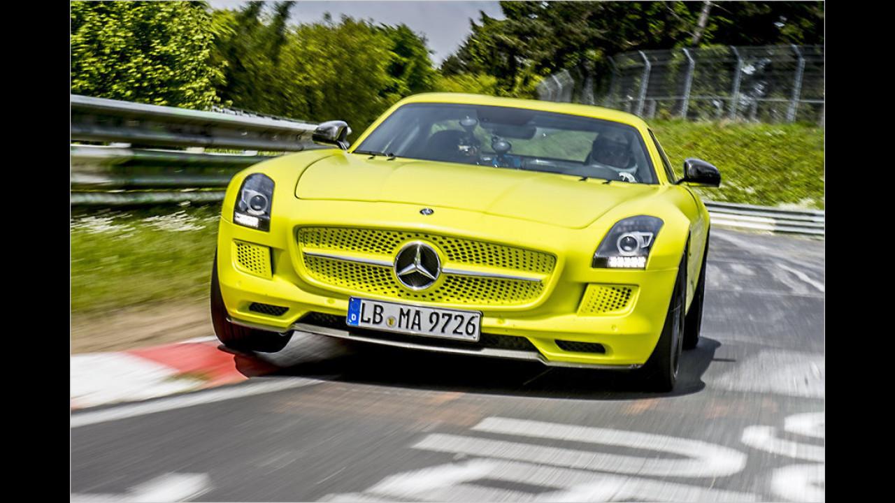 Mercedes SLS AMG Electric Drive: 7:56 Minuten (schnellstes Elektroauto)