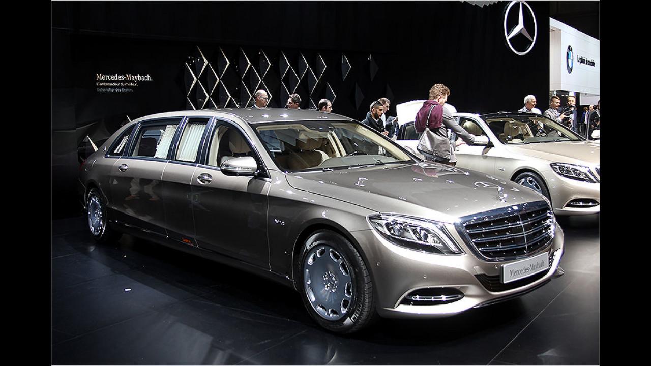 Genf 2015: Sitzprobe im Mercedes-Maybach Pullman