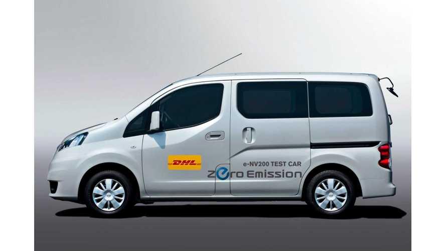 DHL Japan Testing Nissan e-NV200 Prototype