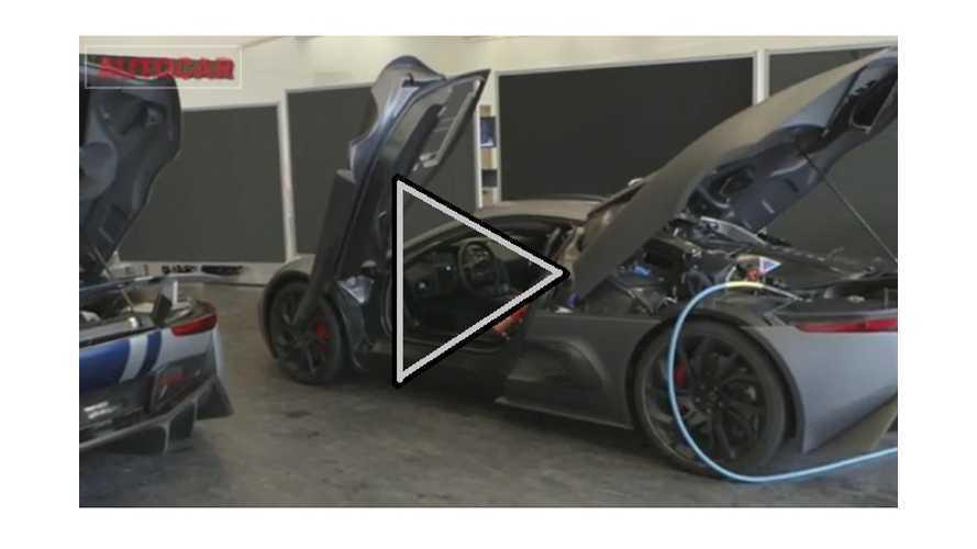 """Video:  Stillborn Jaguar C-X75 Plug-In Supercar Gets A """"First Drive"""""""