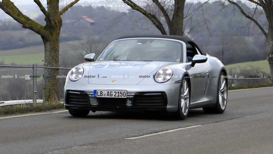 New Porsche 911 Cabrio casus fotoğraflar