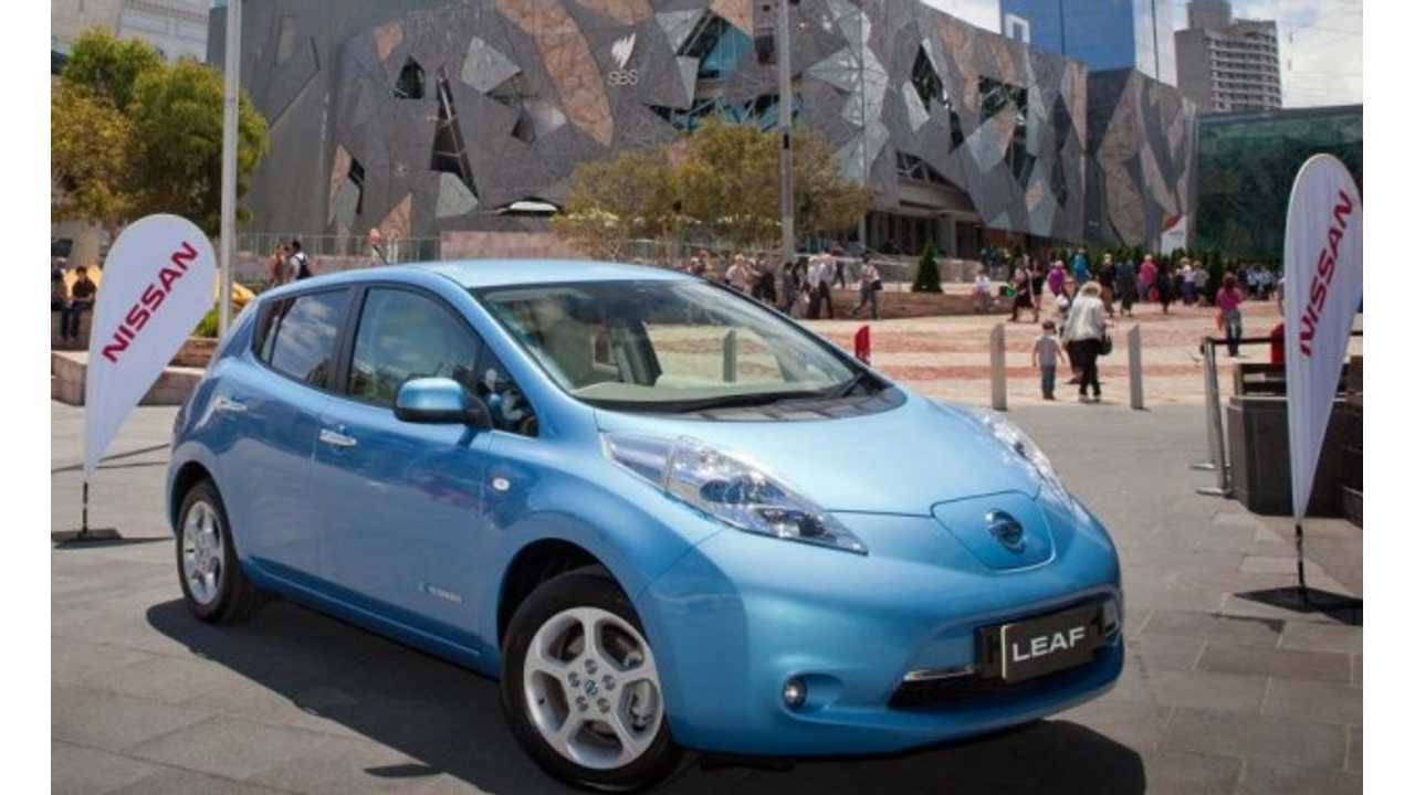 Nissan LEAF On Sale Now In Australia, Priced at $51,500