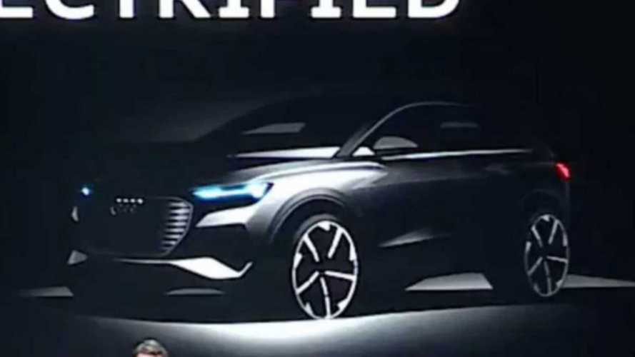 Audi e-tron Sportback, il teaser della rivale della Tesla Model Y