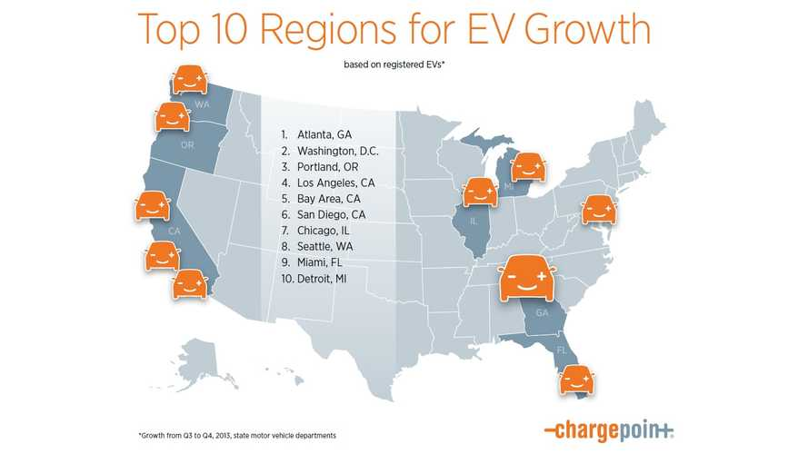 Infographic:  Top 10 Plug-In Growth Regions In America