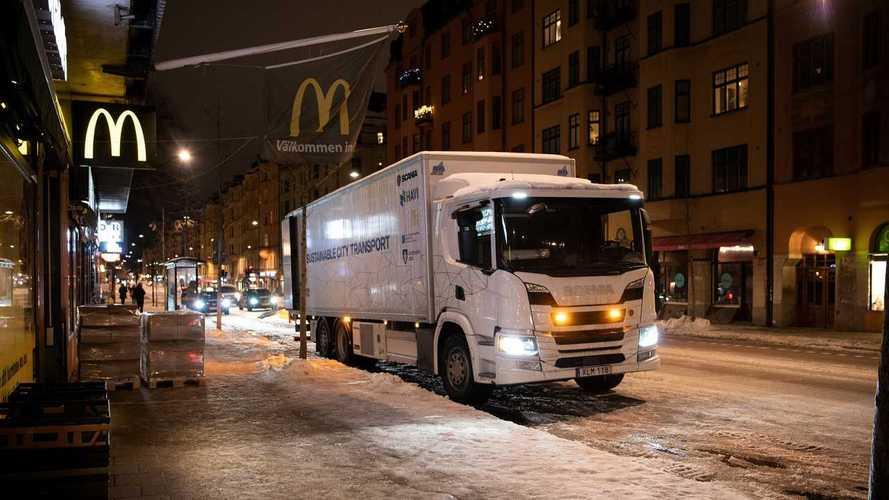 L'ibrido Scania per Stoccolma. Consegne notturne silenziose