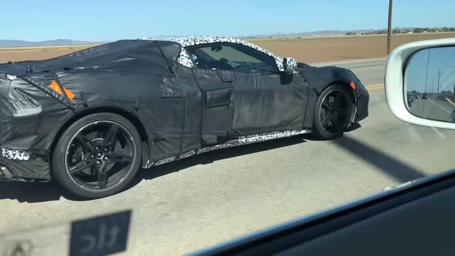 C8 Chevrolet Corvette fleet spied eith GM President in passenger seat