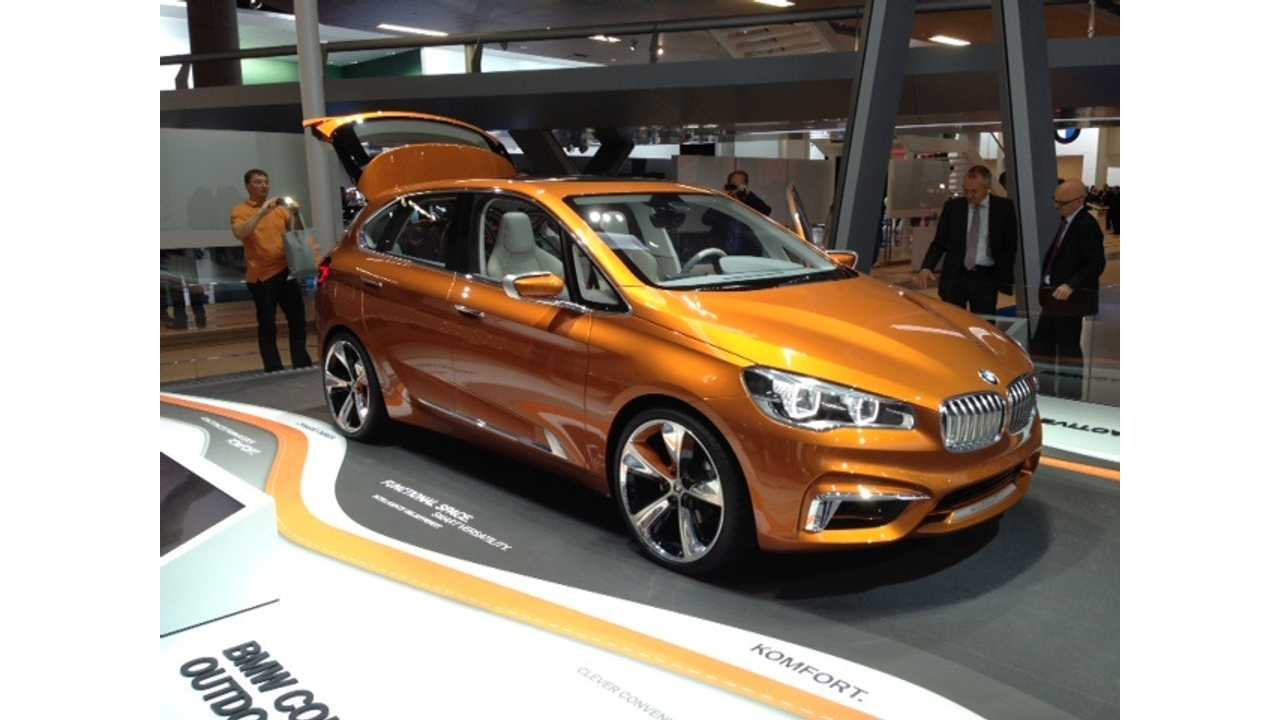 BMW Concept Active Tourer Hits the Stage in Frankfurt; Previews 2015 Production Plug-In Hybrid From BMW