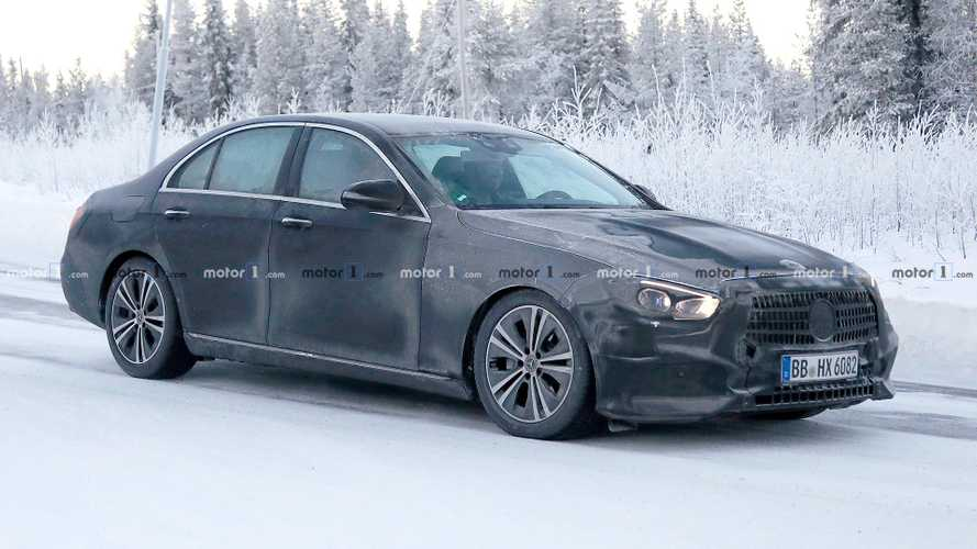 Mercedes-Benz E-Class refresh spied up close
