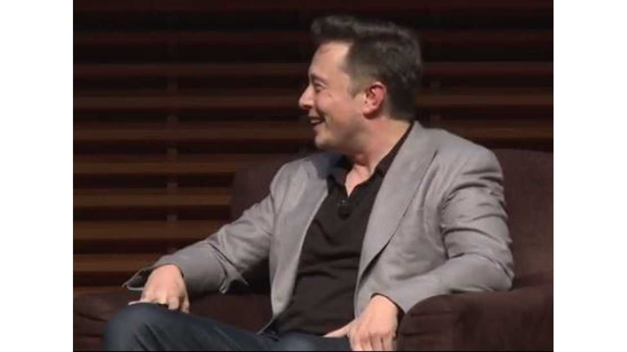 Musk Laughs as He Discusses Tesla Trademarking SEXY