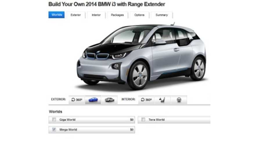 Build Your Own BMW i3 REx - Base MSRP Now Just Under $10,000,000,000 After $7,500 Tax Credit