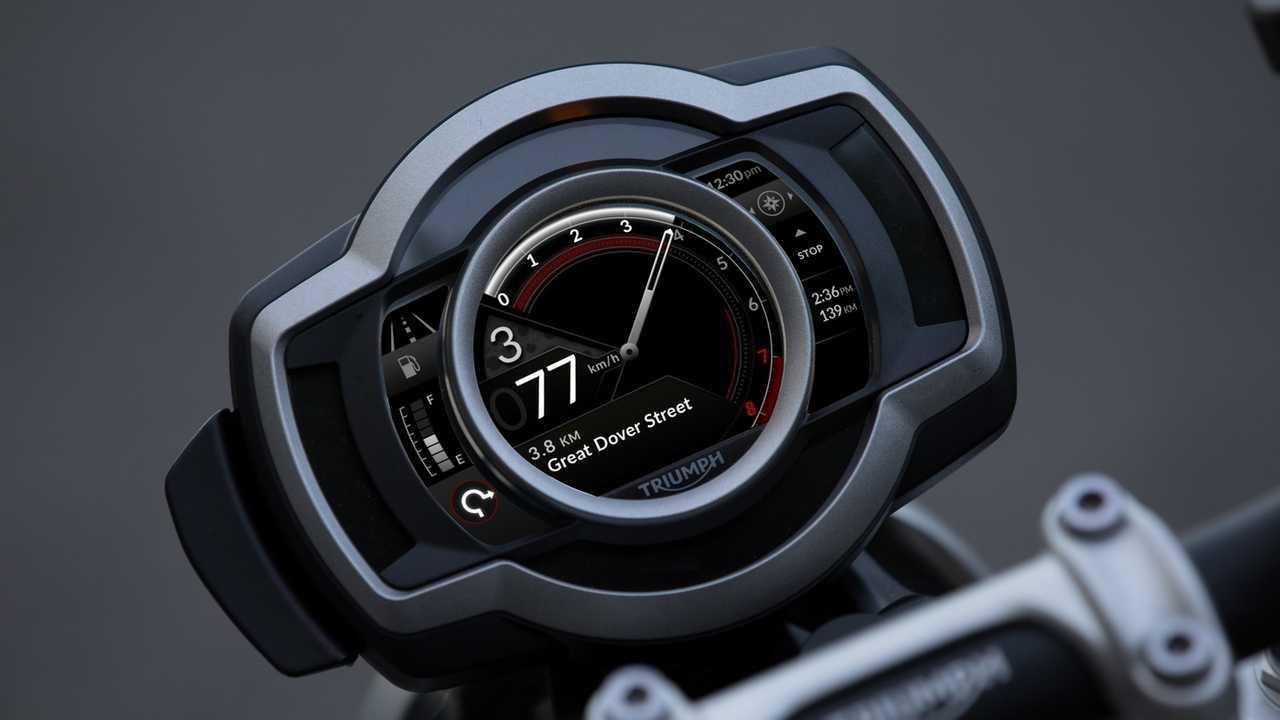 Triumph Scrambler 1200 conectividad Bluetooth