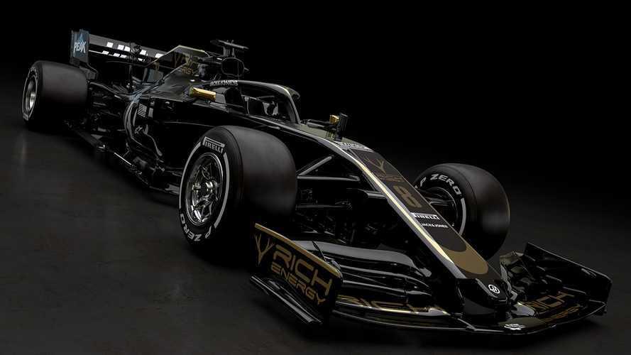 Haas F1 2019, livrea nero/oro per il team motorizzato Ferrari