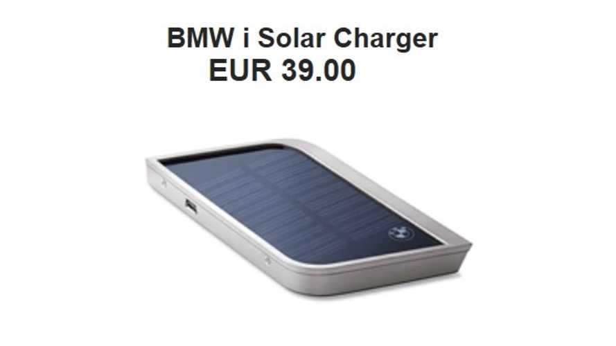 Can BMW Interest You In Some i-Stuff While Waiting For Your i3?  Fancy An i Solar Charger For Your Smartphone?