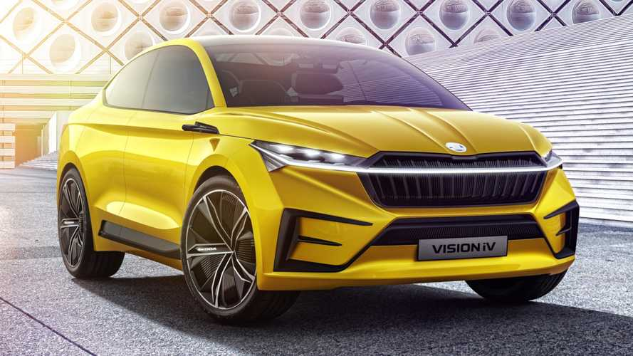 Skoda Vision iV Concept revealed signalling ambitious EV plans
