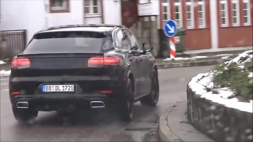Vídeo espía Porsche Cayenne Coupé 2019: zaga deportiva