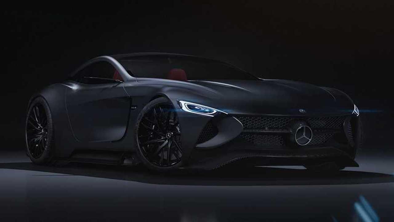 Render Mercedes-Benz SLR Vision Concept