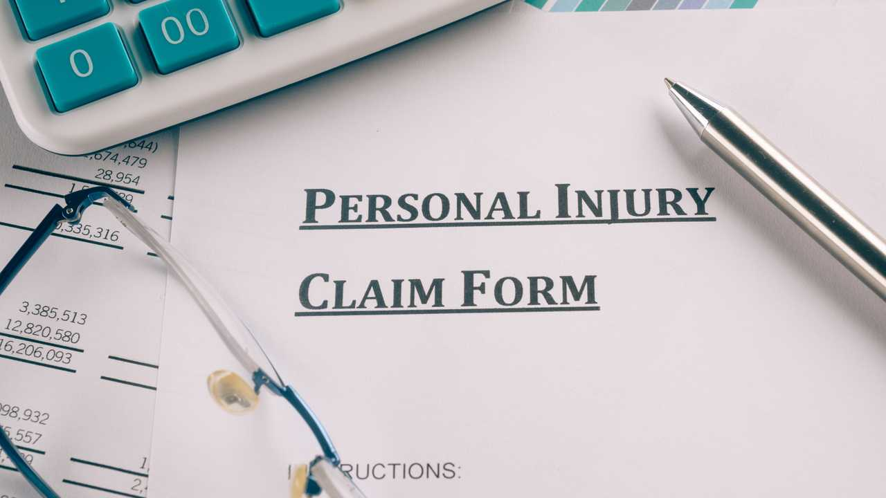 Personal injury insurance claim form