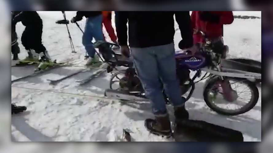 Afghanistan's First Ski Lift Is Motorcycle-Powered
