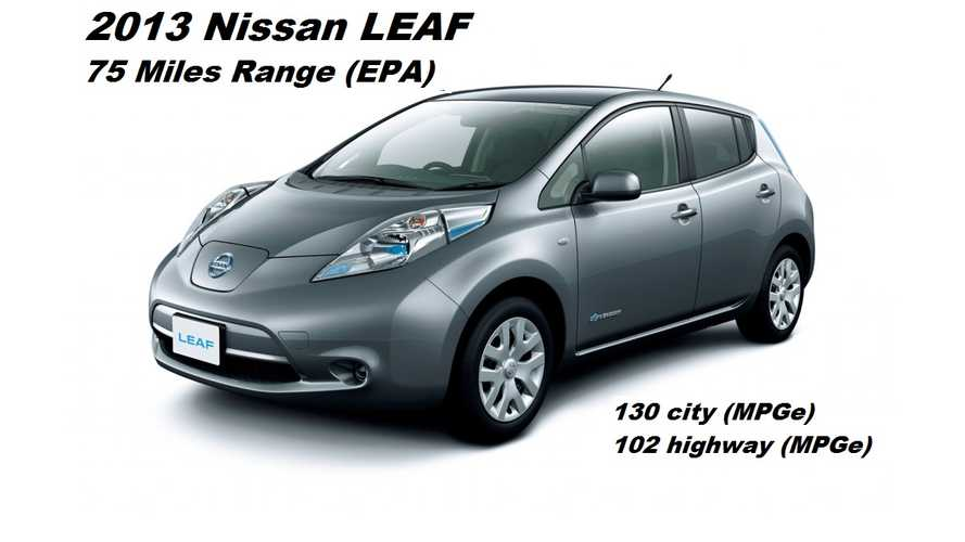 2013 Nissan LEAF Rated at 75 Miles Of Range, Now At Dealerships