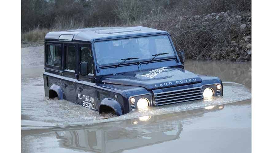 Land Rover Releases More Details on Electric Defender; It Can Pull a 12-Ton Train Up a Steep Grade