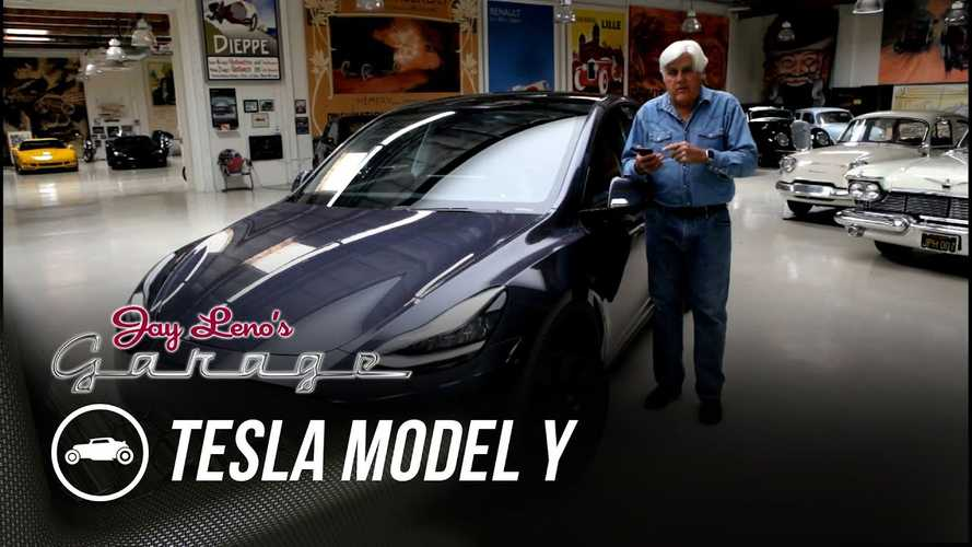 Jay Leno Reviews Tesla Model Y, Finds Nothing To Criticize About It