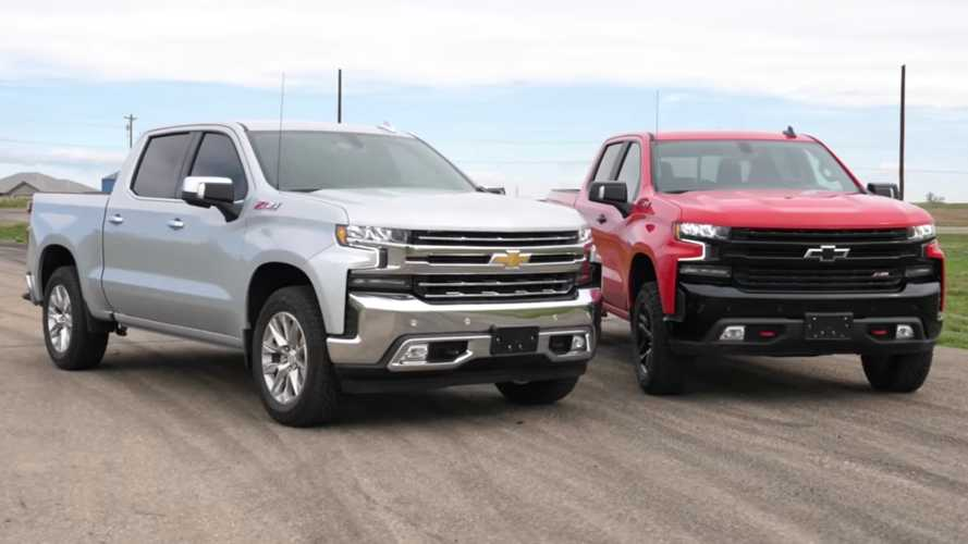 Chevrolet Silverado Trail Boss Drag Races The LTZ Z71