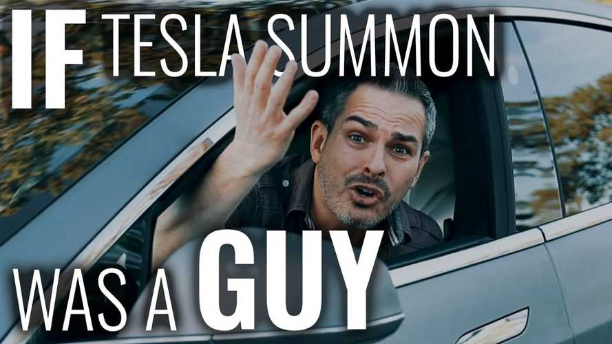 What If Tesla Summon Was Actually A Real Person? You Know, A Chauffeur