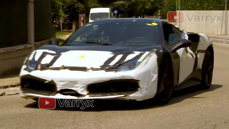 Ferrari hybrid test mule spied in Maranello by Motor1.com reader